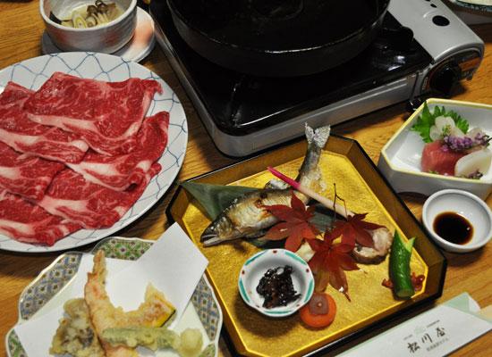 那須湯本温泉・松川屋 那須高原ホテル(夕食の一例)