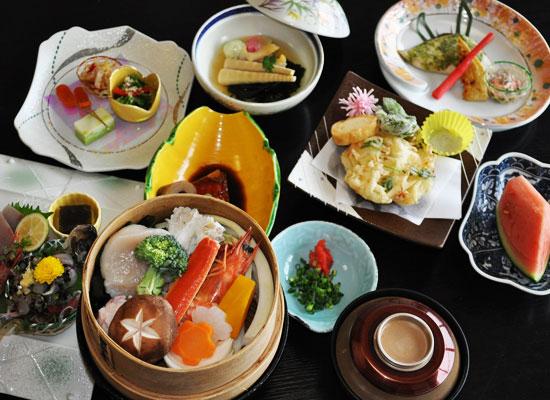 犬吠埼潮の湯温泉・犬吠埼観光ホテル(夕食の一例)