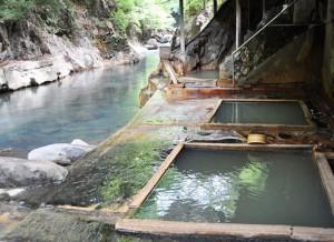 塩の湯温泉・明賀屋本館/混浴露天風呂