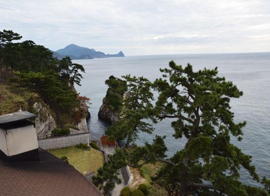 堂ヶ島温泉・アクーユ三四郎/客室からの景色