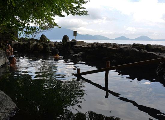 丸駒温泉・丸駒温泉旅館/天然岩風呂