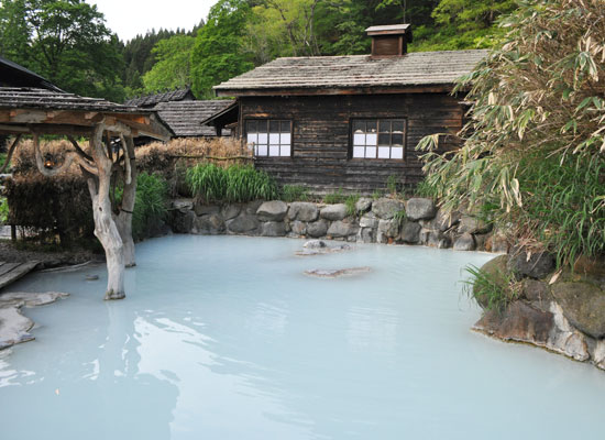 鶴の湯温泉/混浴露天風呂