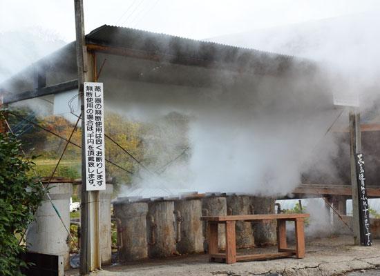 岳の湯温泉・豊礼の湯/地獄蒸し全景