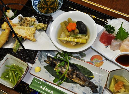 古遠部温泉/夕食