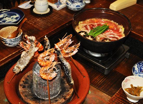 小滝温泉/夕食の一例
