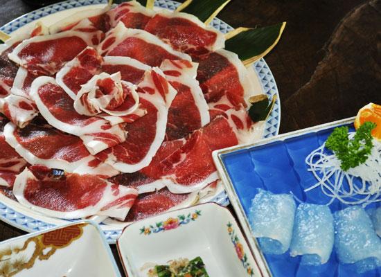 下仁田温泉・清流荘/料理(猪肉)