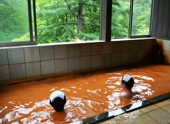 天狗温泉・浅間山荘/2階の宿泊客専用の風呂(男湯)