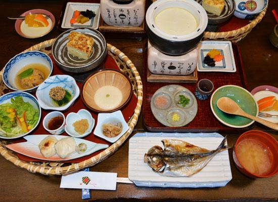 天城湯ヶ島温泉・落合楼村上/朝食の一例