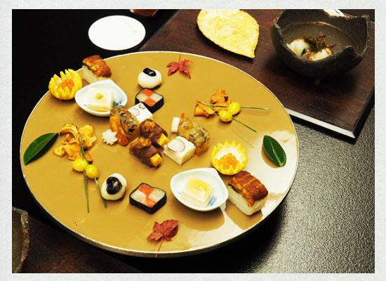 落合楼村上/夕食の前菜