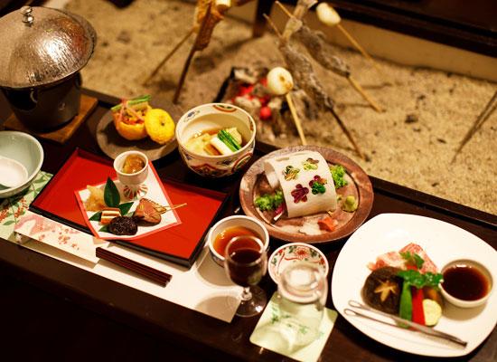 湯西川温泉・上屋敷 平の高房/夕食
