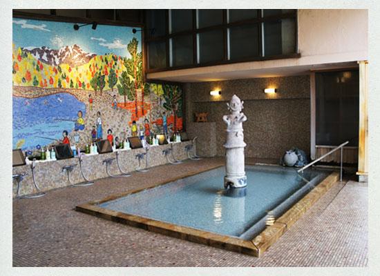 辰巳館 埴輪風呂
