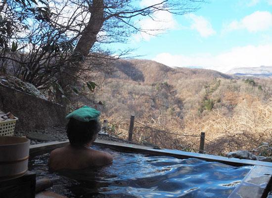 尻焼温泉・白根の見える丘/貸切制の展望露天風呂