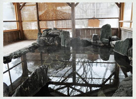 湯西川温泉・平の高房/離れ「閑静亭」の専用露天風呂