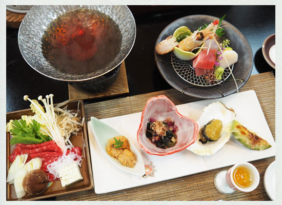 湯河原温泉・源泉上野屋/夕食の一例