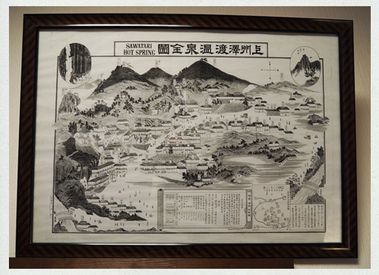 沢渡温泉の絵図