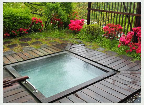 那須湯本温泉 松川屋 那須高原ホテル/女湯の露天風呂