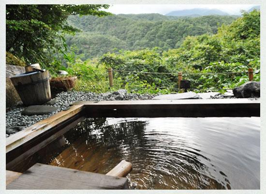 尻焼温泉 白根の見える丘/貸切露天風呂