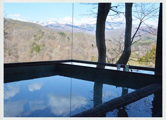 尻焼温泉 白根の見える丘/展望風呂