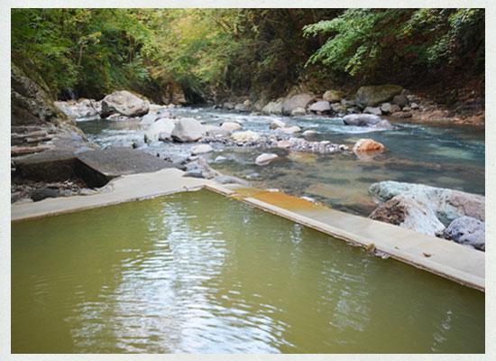 塩の湯温泉・明賀屋本館/女性専用の露天風呂