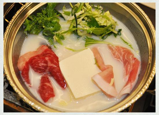 豆富懐石 猿ヶ京ホテル/夕食「豆乳しゃぶ」