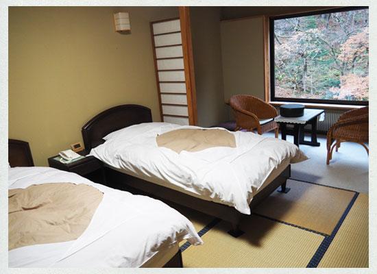 川古温泉・浜屋旅館/客室(ベッド)