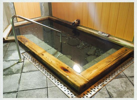 川古温泉・浜屋旅館/混浴の内湯