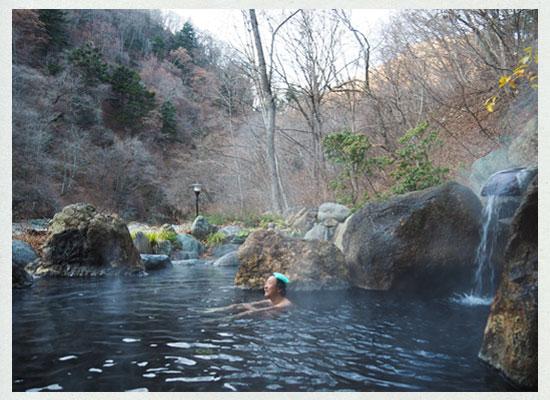 川古温泉・浜屋旅館/混浴露天風呂