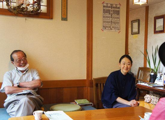 草津温泉・草津舘 田村裕子さんとお父さん