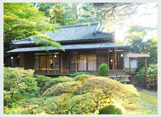 村杉温泉 風雅の宿 長生館・離れの特別室「五頭緑水庵」